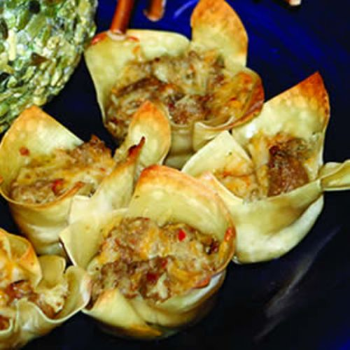 Sausage Won Tons