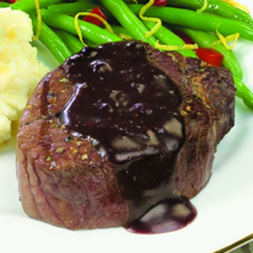 Filet Mignon With Cabernet Potato Butter Sauce