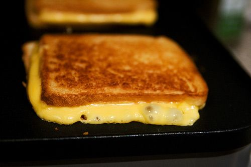Very Thin Grilled Cheese Sandwiches