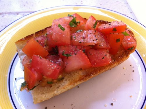 Super easy tomatoes on bread