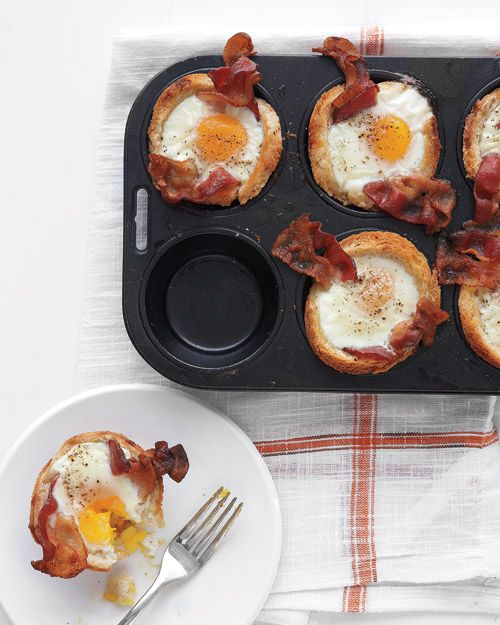 Bacon, Egg, Toast Cups