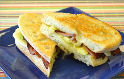 Bacon & Avocado Grilled Cheese Sandwich
