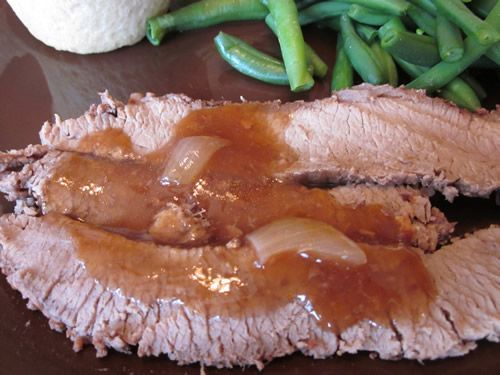 Brisket with Burgundy Sauce