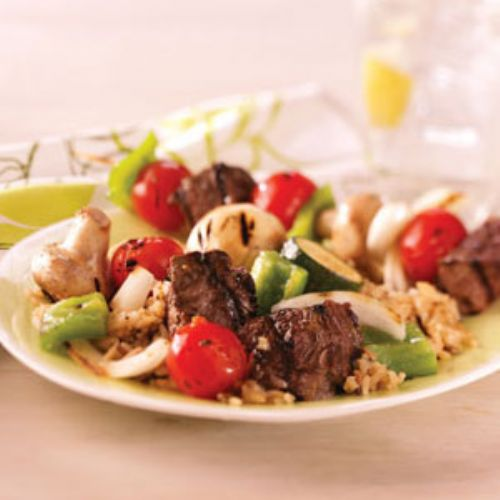 Steak and Vegetable Kabobs