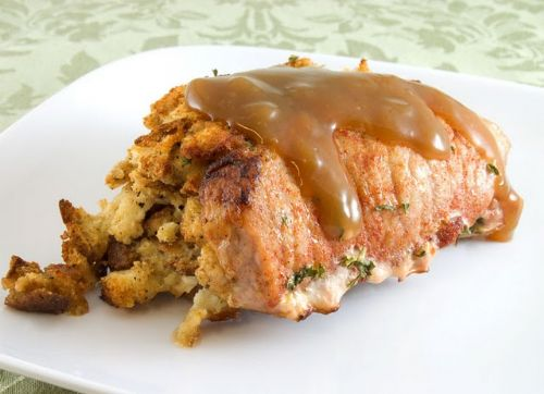 Pork Chop and Stuffing Bake
