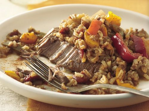 Slow Cooker Tex-Mex Steak and Rice