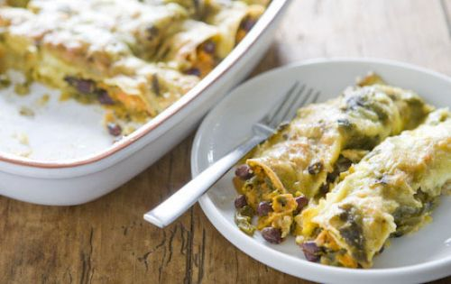 Sweet Potato and Black Bean Enchilladas