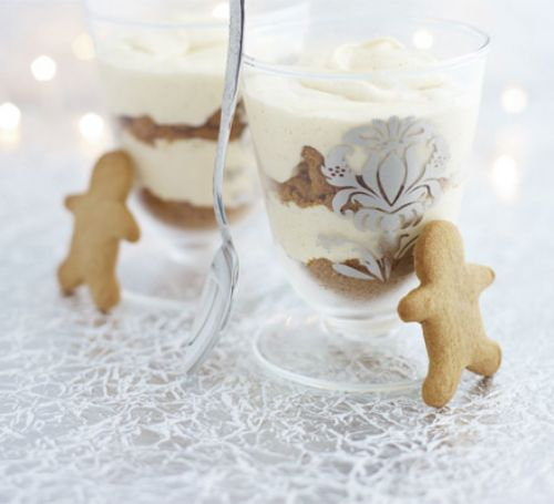 Gingerbread & white chocolate mousse