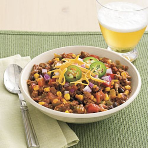 Slow-Cooher Turkey Chili