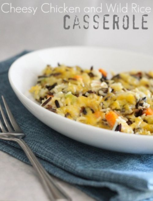 Cheesy Wild Rice Hotdish
