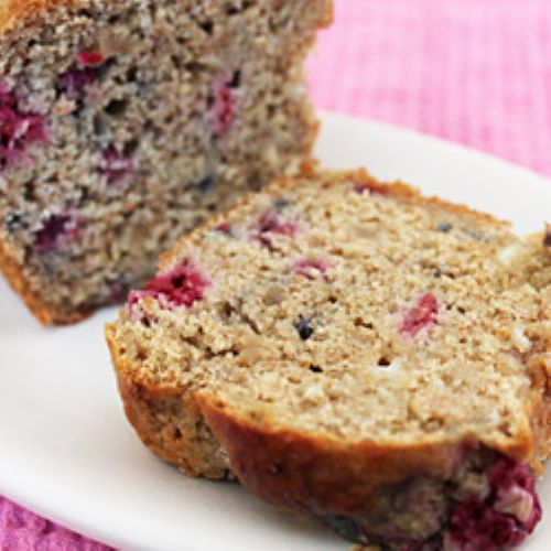 Raspberry & White Chocolate Peanut Butter Bread