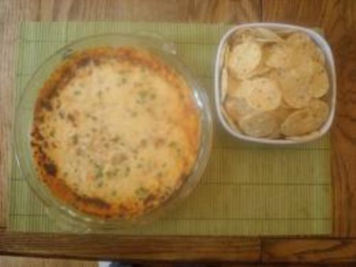 Cheesy Hot Crab and Red Pepper Dip