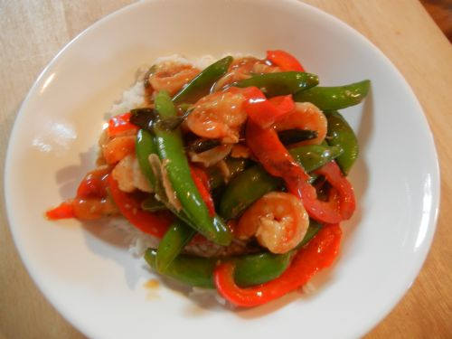 stir fry shrimp and veggies