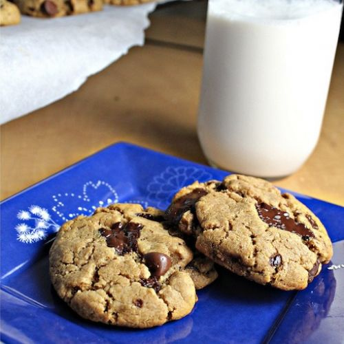 Peanut No-Butter Chocolate Chip Cookies