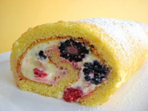 Lemon Berry Roulade