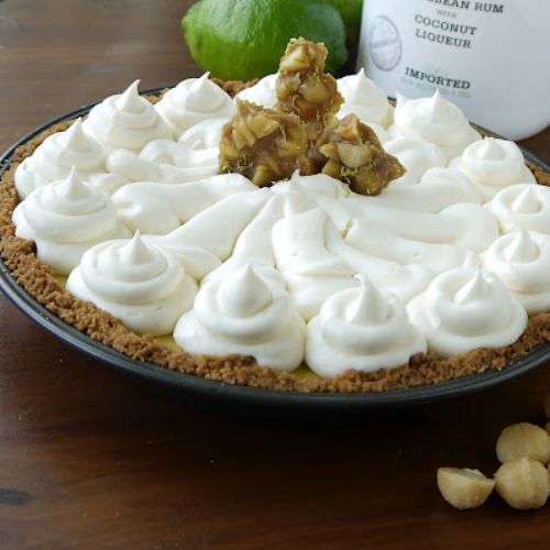 Key Lime Pie with White Chocolate Rum Cream