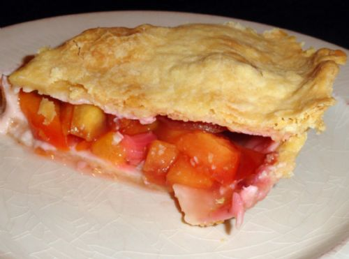 Blushing Peach Pie