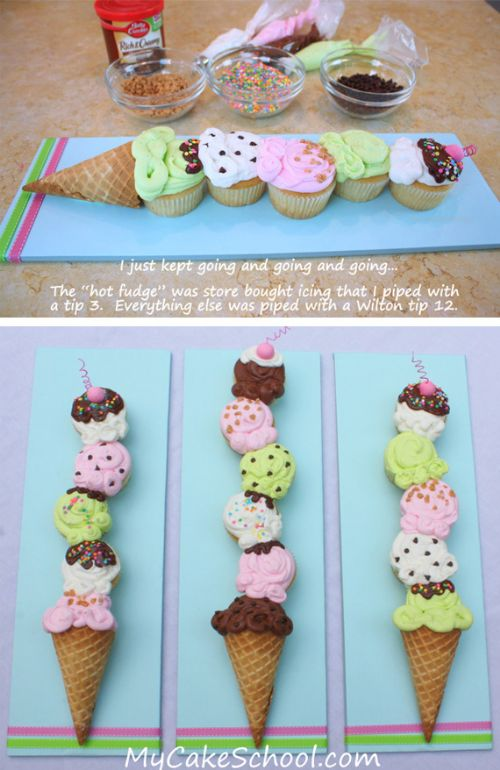Cupcakes - Ice Cream Scoops