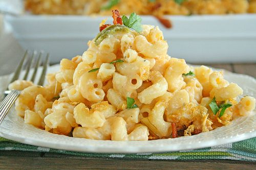 Jalapeno Popper Buffalo Chicken Macaroni and Chees