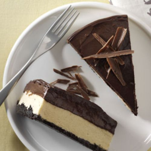Chocolate & Peanut Butter Mousse Cheesecake
