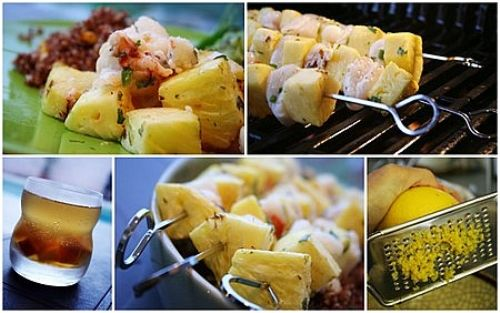 Scallops & Pineapple Kabobs