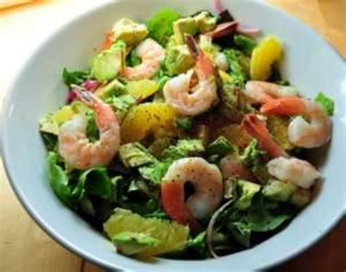 Salad of the Goddesses with Poached Shrimp