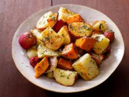 Potato - Mixed Roasted Potatoes with Herb Butter