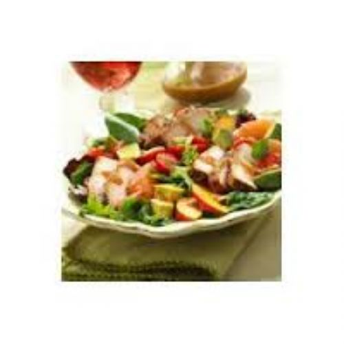 BBQ Pork Salad with Summer Fruits and Honey Balsam