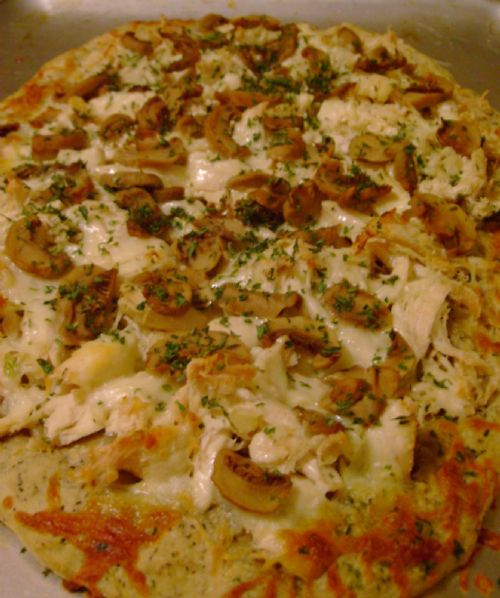 Garlic & Herb Chicken Pizza
