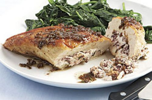Goat-Cheese-and-Olive-Stuffed Chicken Breasts with