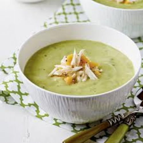 Chilled Avocado Shrimp Soup