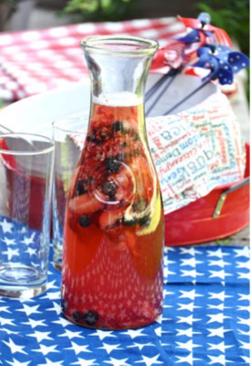 Red, White, & Blue Sangria