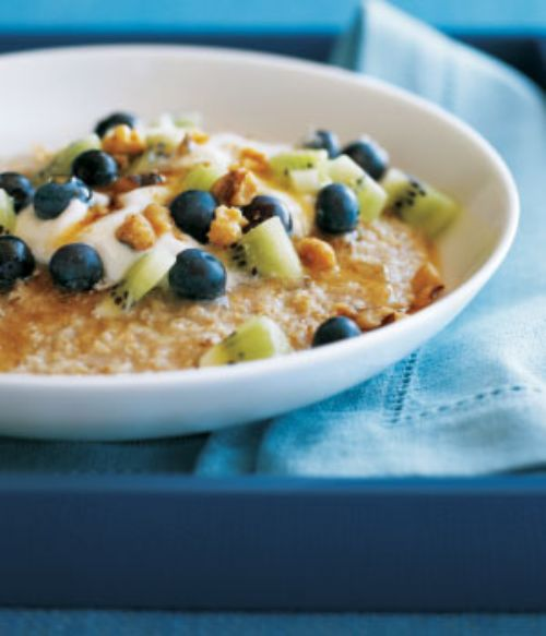 Oatmeal, Flaxseed, Blueberries & Almonds