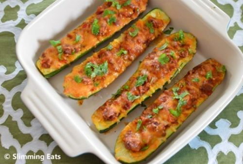 Chilli Stuffed Courgettes