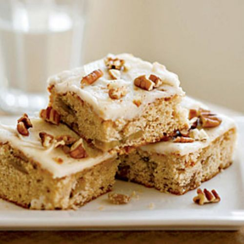 Roasted Banana Bars with Browned Butter–Pecan Fros