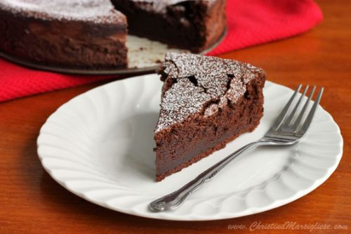 Almost Angelic Chocolate Soufflé Cake