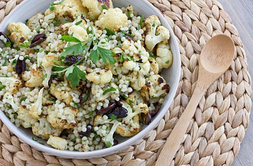 Warm Cauliflower & Israeli Couscous Salad