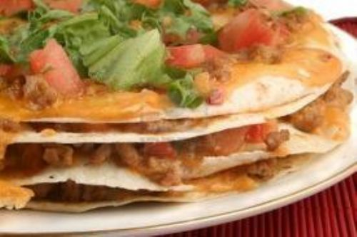 Mexican Layered Pizza