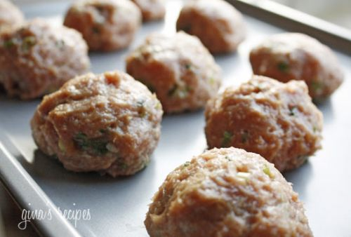 Asian Turkey Meatballs w/ Lime Sesame Sauce