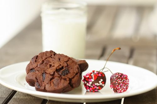 Double Dark Chocolate Cherry Cookies