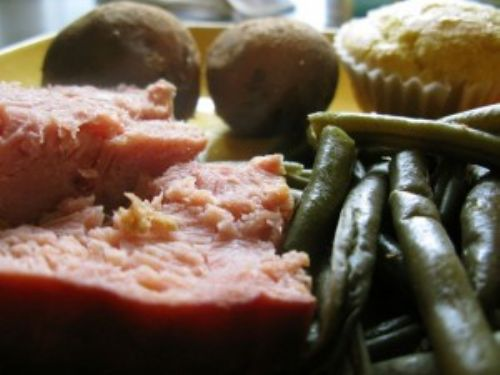 Crock-Pot Ham and Green Beans