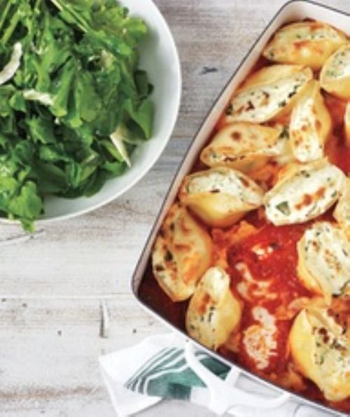 Vegetarian Spinach and Ricotta Stuffed Shells