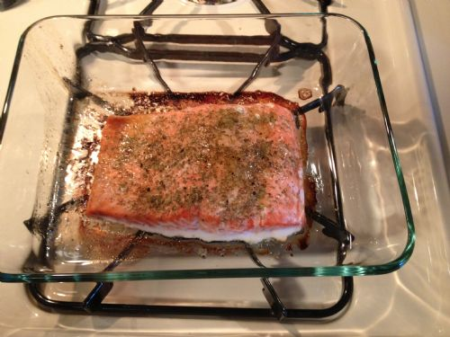 Baked Salmon with Lemon & Dill