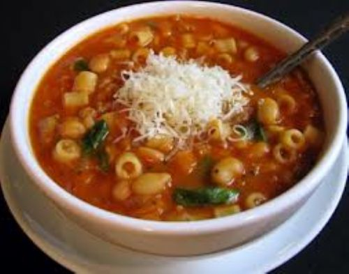Pasta Fagioli Soup in Crockpot