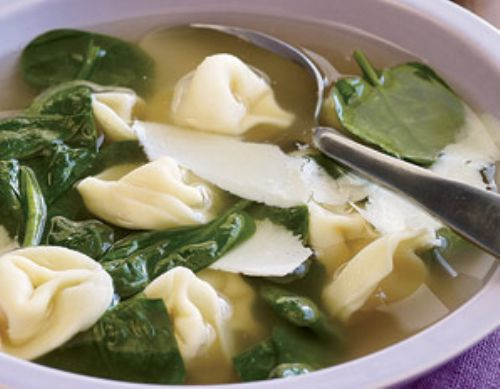 Spinach & Tortellini Soup
