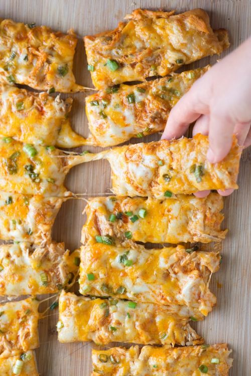 Buffalo Chicken Pizza Sticks