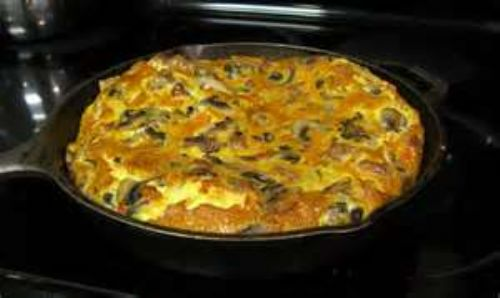Ham and Olive Frittata