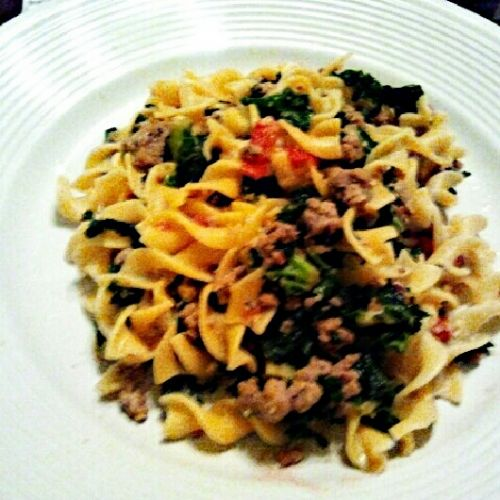 Turkey Sausage and Kale Pasta