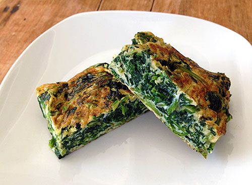 Spinach Tamagoyaki (Spinach stuffed omelette)