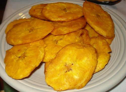 Bannann Peze (Twice Fried Green Plantains)